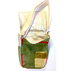 Summer Grass Messenger up-cycled bag