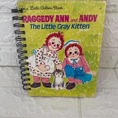 2021/2022 Financial Year  Little Golden Book Upcycled Diary - Raggedy Ann & Andy