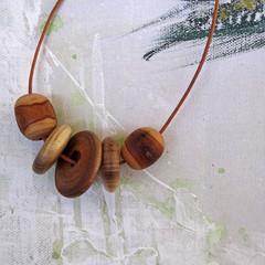 Necklace - Wooden Escape. N-304W.