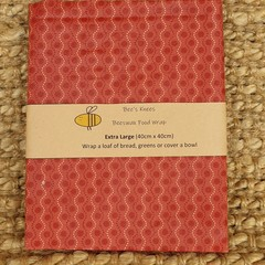 Extra Large Beeswax Wrap - Salmon Spots