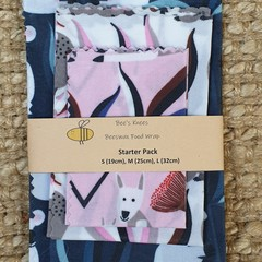 Beeswax Wraps STARTER PACK Wombat