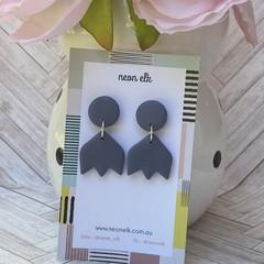 Polymer Clay Earrings - Slate