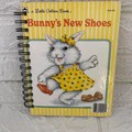 Little Golden Book Upcycled Notebook - Bunny's New Shoes