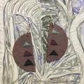 Polymer Clay Earrings - Statement Earrings Triangles