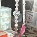 """""""Pink Crystal Dangler"""" Suncatcher."""