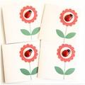 FREE POST | 4 Ladybug Cards | Blank, Thank You, Birthday, Thinking of You