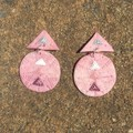 Polymer Clay Earrings - Statement Earrings Triangles