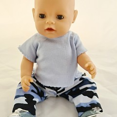 Baby doll Cargo Pants and T Shirt