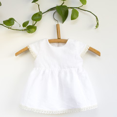 Sustainable Linen Baby Dress Size 0