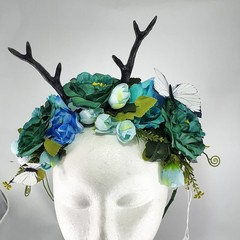 Woodland Crown - Antler floral crown (multiple colour options available)