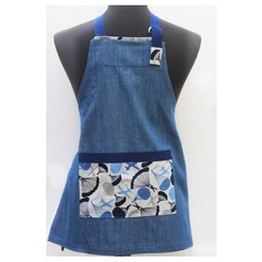 Denim Delight parachutes children's apron