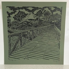 Lord Somers Camp -The Bridge Edition of 100 - Linoprint
