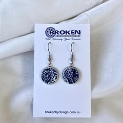 Blue Willow Patterned  Earrings