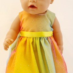 Baby doll ,Rainbow Fairy Dress