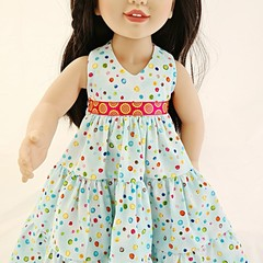 Halterneck Spotty Maxidress