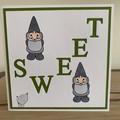 Gnome Sweet Gnome. Handmade card