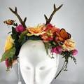 Woodland Crown - Antler floral crown