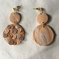 Polymer Clay Earrings - Statement Earrings Mermaid