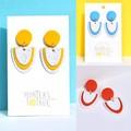 Primary Focus Statement Earrings / Dangle earrings / Polymer Clay Earrings
