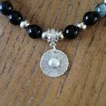 Tiger Eye, Onyx and Recycled Silver Bracelet