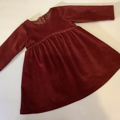 Toddler dress, long sleeved corduroy - sizes 18 mths and 3