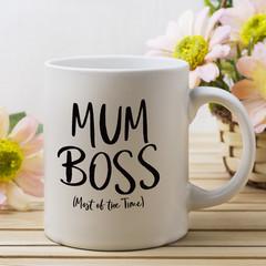 Mum Boss Coffee Mug, Mothers Day Mug, Personalised Mothers Day Gift