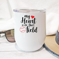 Baseball Coach Gift Stainless Steel Stemless Personalised Wine Tumbler - WT009