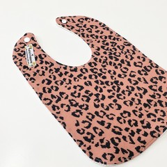 Boho leopard bib