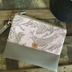 Flat Clutch - Pink Birds