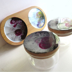 RESIN MINI JAR & TRAY SET & Free Spice Labels Easter,Mothers Day etc Gift Idea's