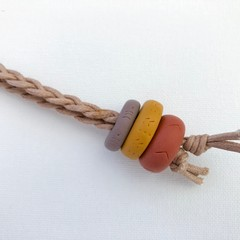 Texture Key Chain / Bag Strap / Keyring (Mushroom + Mustard + Terracotta)