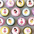Fairy Fairies Mini Edible Icing Cupcake Toppers - Pre-cut Sheet of 30 - EI014MC