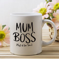 Mum Boss Coffee Mug, Mothers Day Mug, Personalised Mothers Day Gift