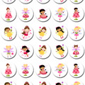 Fairy Fairies Mini Edible Icing Cupcake Toppers - Pre-cut Sheet of 30 - EI014MC