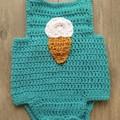 Crochet Romper / Onesie - 6 months
