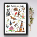 Australian Bush Wildlife Poster, Kids Wildlife Resource