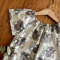 dress - koala / eco friendly organic cotton / cream grey green / 1-9 years