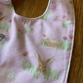 bib - pink bilby / organic cotton hemp / Easter gift / baby toddler