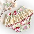 Frilly Nappy Cover - Size 2 | Ruffles | Diaper Cover | Baby | Roses | Bees