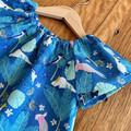dress - cockatoo galah teal / organic cotton peasant-style / 1-9 years