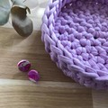 LARGE l Crochet basket | essential oils | storage basket | PASTEL LAVENDER