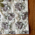 burp cloth - koalas / organic cotton hemp fleece / baby toddler