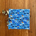 wash cloth - blue cars / organic cotton hemp fleece / baby toddler