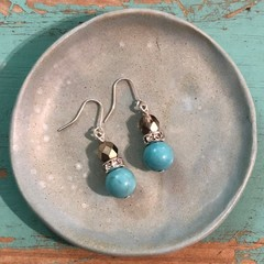 Turquoise Latte earrings