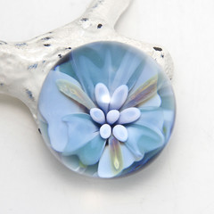 Lovely Flower Collectable Glass Marble