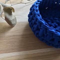 Crochet basket | essential oils | home decor | storage basket | ROYAL NAVY BLUE