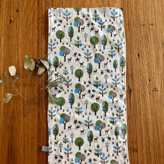 burp cloth - woodland / organic cotton hemp / eco friendly / green blue deer