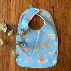 bib - bilby / eco friendly / organic cotton hemp fleecy / Easter gift