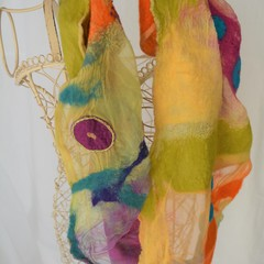 Embellished Nuno Felted Scarves
