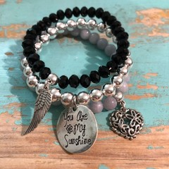 Shades of Grey bracelet stack (2)